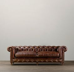 """98"""" Kensington Leather Sofa instead of a bed.  I'm getting used to sleeping on a couch after 5 years of it."""