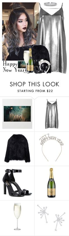 """""""506->Happy New Year! (Description)"""" by dimibra ❤ liked on Polyvore featuring River Island, Yves Saint Laurent, Crate and Barrel, KC Designs, Bling Jewelry, black, Silver, newyear and 2017"""