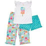 3fa69e563 Carter's® Girl's Infant/ Toddler Sleepwear Ice Cream 3-Pc. at Sears.com