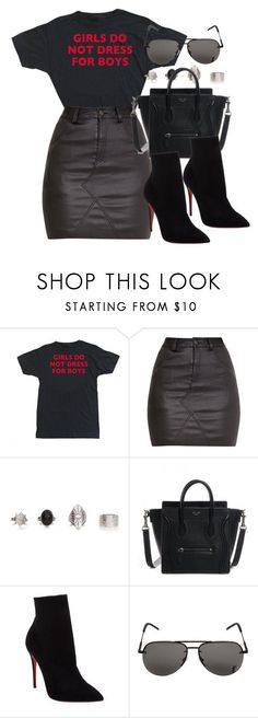 Sin título #12236 by vany-alvarado ❤ liked on Polyvore featuring Christian Louboutin and Yves Saint Laurent