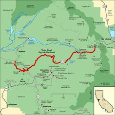 Tioga Road/Big Oak Flat Road - Map | America's Byways