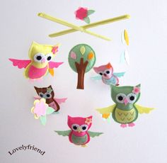 Owl Mobile - to go with my new owl obsession.  I better figure out how to make it, though, cuz I don't $78 love it!