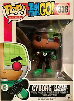 Bobble Head Figures - POP Television Teen Titans GO Cyborg as Green Lantern TRU Exclusive  >>> To view further for this item, visit the image link.