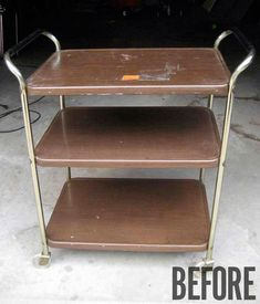 How to: Give a Flea Market Bar Cart a Modern Makeover