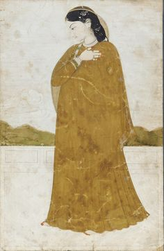 Portrait of a Lady, early 19th century, Kangra, Punjab Hills, India