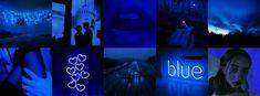 Blue Twitter Header, Twitter Header Aesthetic, Twitter Header Photos, Twitter Headers, Blue Aesthetic Dark, Neon Aesthetic, Aesthetic Iphone Wallpaper, Aesthetic Wallpapers, Tumblr Neon