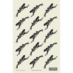 Leaping hares from our original wood engravings. Now getting rather rare - the tea towels, rather than the hares, so check before ordering to see if we have any left, we rather like the idea of limited edition tea towels! Pie In The Sky, Gifts Under 10, Wood Engraving, Birthday Presents, Hare, Tea Towels, Kitchen, Cotton, Black