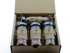 BBQ 4-Pack ~ BBQ Rub and Spices Gift Set of 4 ~ High Plains Spice Company Gift Set~ Gourmet Meat and Veggie Spice Blends & Rubs For Beef, Chicken & All Recipes ~ Spice Blends Handcrafted In Colorado