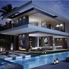 Rich Famous Modern Mansion | Checkout @LuxClubboutique Life is...