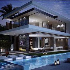 Rich Famous Modern Mansion | Checkout @LuxClubboutique Life is...