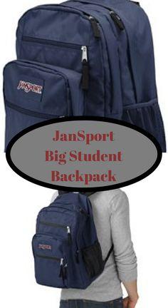 05ae8f1534 JanSport Big student backpack. Ergonomic S-curved shoulder straps
