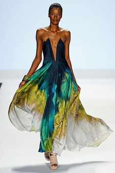 project runway season 9, anya's collection. deep v, gorgeous colors. I LOVE this dress~