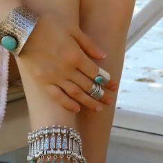 Boho Ring-Silver Statement Ring-Gypsy Ring-Bohemian by BohoWomanNL