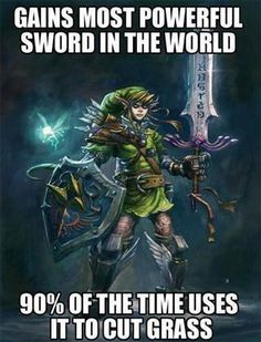 Y U NO Use the Sword for Fighting