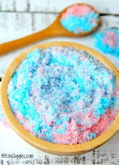 Cotton Candy Lip Scrub - a cotton candy flavored, homemade sugar scrub for sweet, kissable lips!
