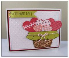 Happy Hearts stamp set - card by Carolina Buchting