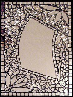 Mosaic mirror, Specchio by Virginia Zanotti Mirror Mosaic, Mirror Art, Mosaic Art, Mosaic Glass, Mosaic Tiles, Glass Art, Mirror Tiles, Stained Glass, Mirror Glass