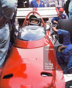 Jacky Ickx on the grid, Ferrari 312B F12, Brands Hatch, British Grand Prix 1970. #f1 #formula1