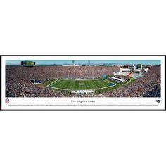Worldwide Blakeway Panoramas 'Los Angeles Rams - 50 Yard Line' Framed NFL Print
