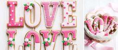 Cookie LOVE via Sweet Living.