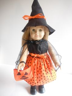 Halloween Witch Costume with Jack-O-Lantern Tote Bag
