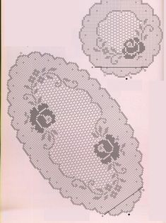 trittico ovale rotondo filet (2) - magiedifilo.it punto croce uncinetto schemi gratis hobby creativi