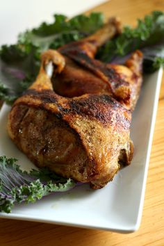 Balsamic Roasted Chicken Leg Quarters-humble chicken gets a juicy flavorful taste with a crispy roasted skin with 5 minutes of prep and popped in the oven for roasting  wordslikehoneycomb.com