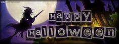 Happy Halloween Witch Facebook Cover
