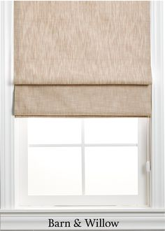 Roman Shade in a chic flat style. Made of certified organic cotton, this custom window shade is hand-stitched by expert hands. Linen Roman Shades, Custom Roman Shades, Home Curtains, Linen Curtains, Drapery Rods, Custom Windows, Flat Style, Flat Sheets, Window Coverings