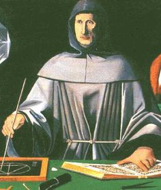 "Luca Pacioli, 1445 - 1517. Considered ""father of accounting."" Italian mathematician, Franciscan friar, friend of Leonardo di Vinci. Published first description of double-entry accounting used by Venice merchants. Described journals, ledgers, debits = credits, accounts on balance sheet & income statement, YE closing entries, trial balances. Also wrote on accounting ethics and cost accounting."