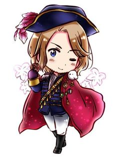 Love this picture of Francis - he's definitely got his fashion game on. :) - Art by Nagi (なぎ) on Pixiv