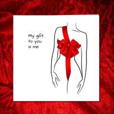 My Gift to You for boyfriend husband Valentine Anniversary Birthday Card #valentinesday #fiftyshades #lovequotes #sexy