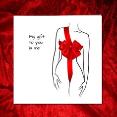 My Gift To You For Boyfriend Husband Valentine Anniversary Birthday Card Valentinesday Fiftyshades