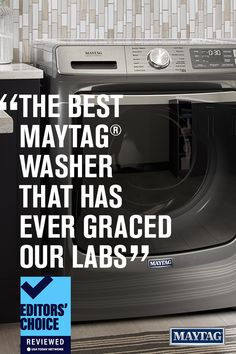 """See why Reviewed.com called this Maytag Front-Load Washer (model MHW8630HC) the """"best MaytagⓇ washer that has ever graced our labs."""" Need more proof? Tap to read the full review on Reviewed.com Maytag Washer And Dryer, Ready To Rumble, Laundry Appliances, Front Load Washer, Doing Laundry, Labs, Stains, Model, Labrador"""