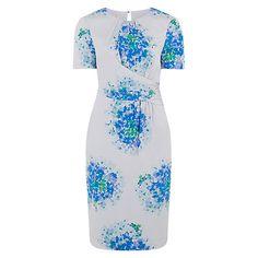 Buy Hobbs Floral Dress, Blue Multi Online at johnlewis.com