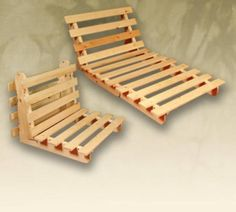 wooden-futon-frame, possibly for shop.