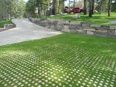"""Concrete grid pavers. """"Driveway"""" to end at back of house"""