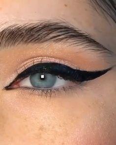 Edgy Makeup, Makeup Eye Looks, Eye Makeup Steps, Eye Makeup Art, Makeup Tips, Makeup Tutorial Eyeliner, No Eyeliner Makeup, Smokey Eye Makeup, Skin Makeup