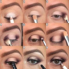 Image via How to Apply Smokey Eyeshadow Step by Step Image via See make-up ideas Step by Step. Make-up in purple and blue tones. Image via Make-up lessons for beginners as beautif Beautiful Bridal Makeup, Bridal Makeup Looks, Love Makeup, Makeup Inspo, Wedding Makeup, Makeup Inspiration, Easy Makeup Looks, How To Makeup, Cute Eye Makeup