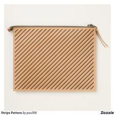 Stripe Pattern Travel Pouch