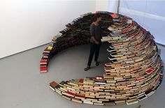 An igloo made completely of books!
