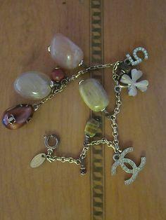Chanel Vintage Logo Charm Bracelet