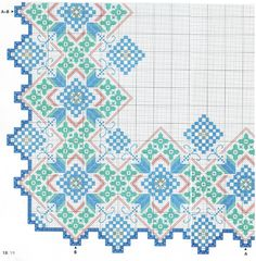 The colour in this pattern is spectacular Hardanger Embroidery, Paper Embroidery, Hand Embroidery Stitches, Embroidery Patterns, Cross Stitch Patterns, Monks Cloth, Bookmark Craft, Crochet Doily Patterns, Doilies Crochet
