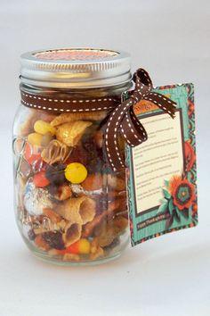 Thanksgiving Blessings Mix Printable Mason Jar by AmandaCreation