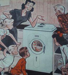 Bendix Home Laundry Automatic Washing Machine Postwar Vintage Original 1947  Print  Ad