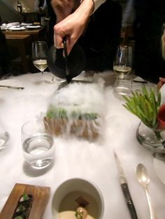 To cut a long story short he ended up working as a mixologist at one of th. Fat Duck Restaurant, Heston Blumenthal, Moon Rise, Michelin Star, Fire And Ice, Molecular Gastronomy, Alchemist, Party Stuff, Food Presentation
