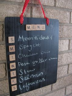 Ok, I need to do this for the apartment. Great way to plan dinners with the boyfriend.