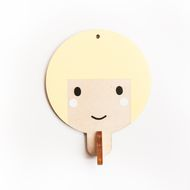 Children's wooden wall hook - Light yellow haired girl These little wall hooks are made from 6mm plywood and handpainted by me. They are perfect for hanging up little bags, coats and accessories and look adorable all hanging in a little line. (Not perf...