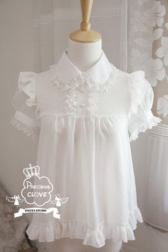 Precious Clove ***Singing in the rain*** Chiffon Lolita Blouse $65.99-Lolita Shirts - My Lolita Dress
