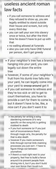 Roman laws funny